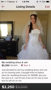 Wedding Dress Size 4 (S)