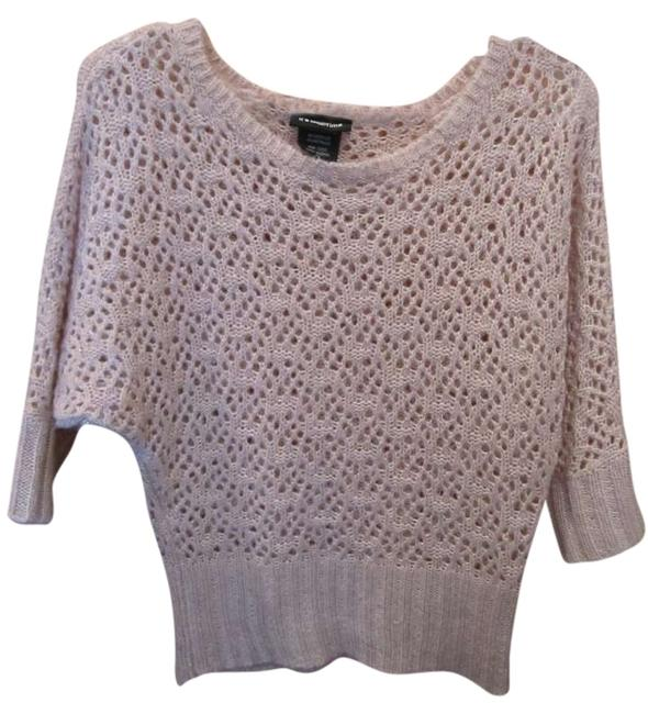 It's Our Time Open Angel Metallic Blush Sweater