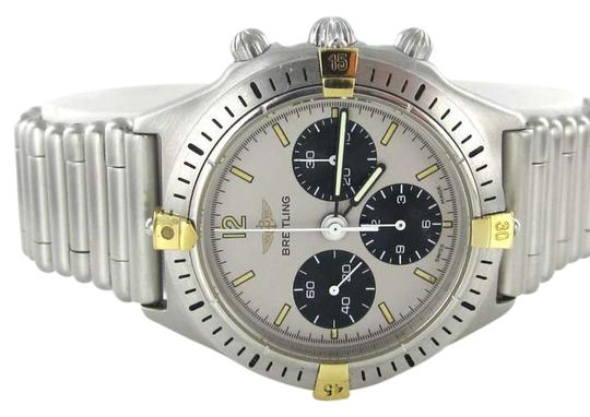Preload https://item1.tradesy.com/images/breitling-steel-callisto-bullet-band-80520-d-crhono-stainless-gold-rare-watch-365145-0-0.jpg?width=440&height=440