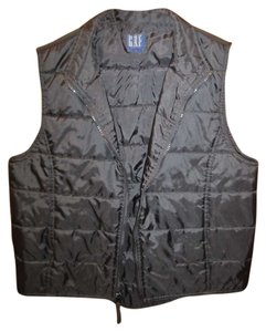 Gap High-low Zip Pockets Quilted Medium Vest