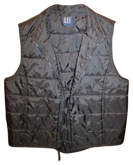 Gap High-low Zip Pockets Puffer Quilted Medium Vest