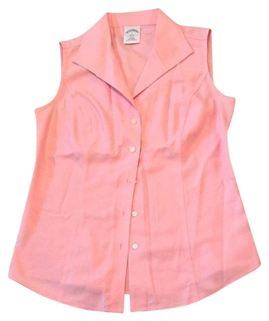 Brooks Brothers Wear To Work Office Button Down Shirt Pink