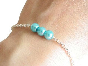 Other blue sky glass pearl bracelet