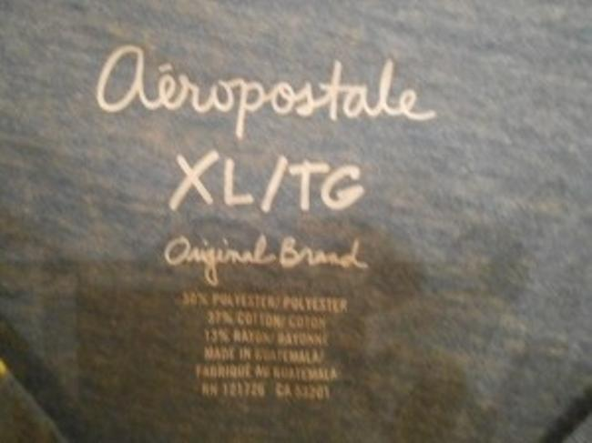 Aéropostale T Shirt light blue and bright yellow