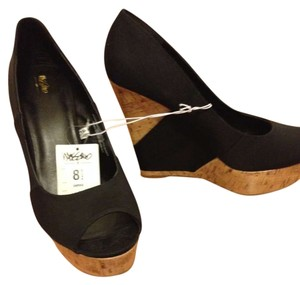Mossimo Supply Co. Black/Brown Wedges