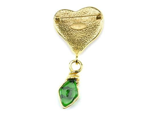 Chanel Chanel 95A Poured Glass Heart brooch