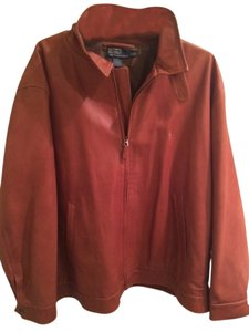 Polo Ralph Lauren Mens Leather Bomber Tan Leather Jacket