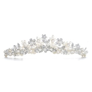 Mariell Bridal Tiara With Freshwater Clusters 3318t