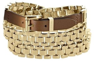 Michael Kors MKJ1946710 Bracelet Style Brown SS Jet Set Wrap Double Wrap
