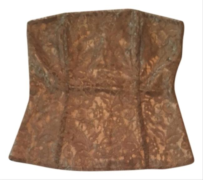 Express Metallic Tube Top Bronze