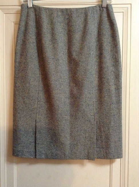 Lafayette 148 New York Pencil Classic Skirt Light Blue Tweed