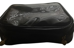 Dana Buchman Black Patent Cosmetic Bag