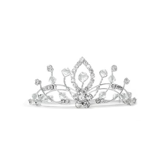 Mariell Lacy Crystal Spray Tiara Comb 3411tc