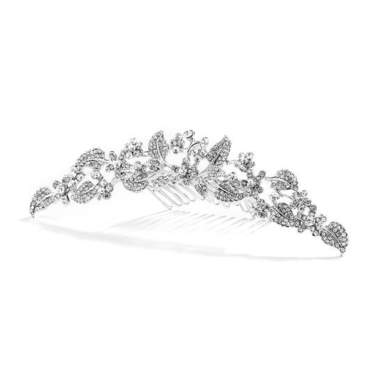 Mariell Silver Crystal Garden Comb For Proms Or 4035tc Tiara