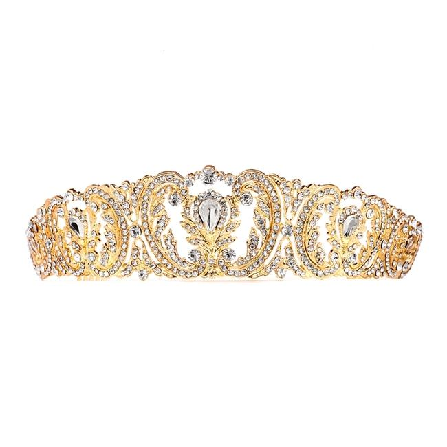 Item - Gold Retro Chic Vintage with Pave Crystals 4186t-g Tiara