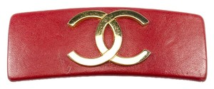 Chanel Chanel Leather Hair Clip