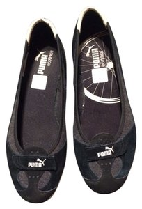 Puma Slippers Skimmers Ballet Black and Grey Flats