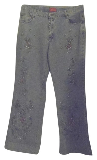 Item - Blue Denim Embellished Trouser/Wide Leg Jeans Size 16 (XL, Plus 0x)