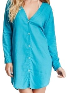 ViX Tunic Button Down Shirt Turquoise