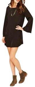 Free People short dress Black Bell Sleeves Micro-mini on Tradesy