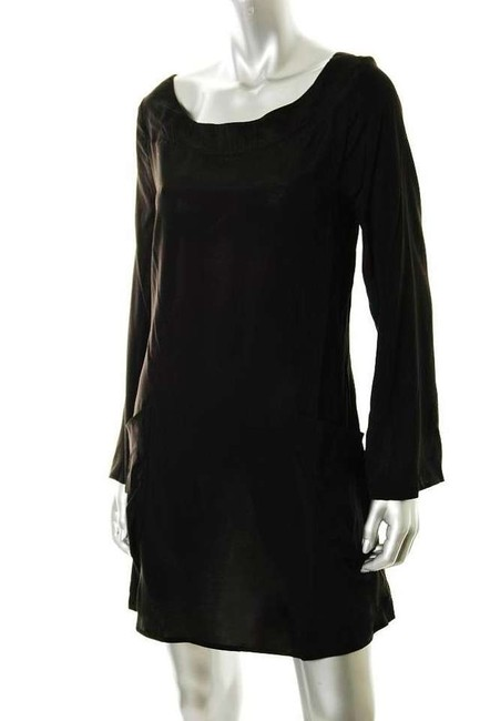Free People short dress Black Bell Sleeves Micro-mini Boho on Tradesy
