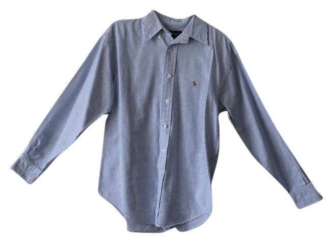 Preload https://item1.tradesy.com/images/ralph-lauren-blue-pinstripe-long-sleeve-button-polo-and-white-button-down-top-size-6-s-3657205-0-0.jpg?width=400&height=650