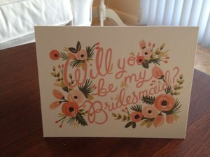 """Multicolor 5 """"Will You Be My Bridesmaid?"""" Cards"""