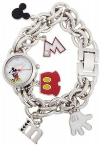 Disney Disney Mickey Mouse Mother-of-Pearl Dial Charm Wa