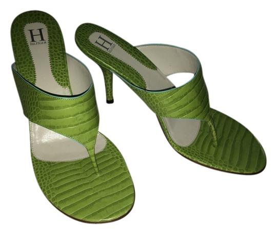 Tommy Hilfiger Stiletto Like New Green Sandals