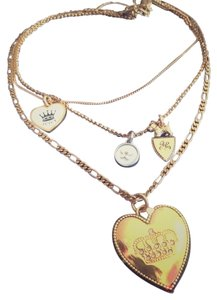 Juicy Couture Juicy Couture Multi Layer Charm Necklace