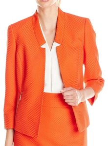 Kasper Open Front Blazer Orange Jacket