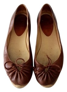 Christian Louboutin Leather Brown Flats