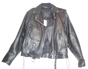 Unik Leather Motorcycle New With Tags Black Jacket
