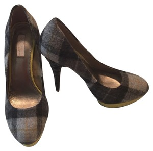 Rachel Roy Plaid Fall Sale Trendy Party Grey Pumps