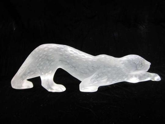 Lalique Crystal Signed Froster Clear Panther Zeila French 14 1/2 Art Sculpture Other