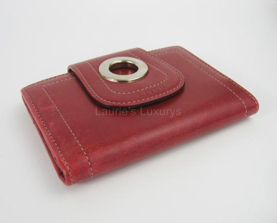 Bally Bally Card Wallet Small Burgundy Red Leather