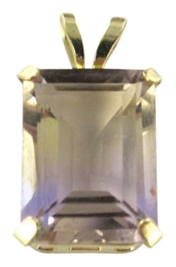 Other 14KT YELLOW GOLD PENDANT AMETHYST 0.4DWT BIRTHSTONE STONE KARAT PRECIOUS JEWELRY