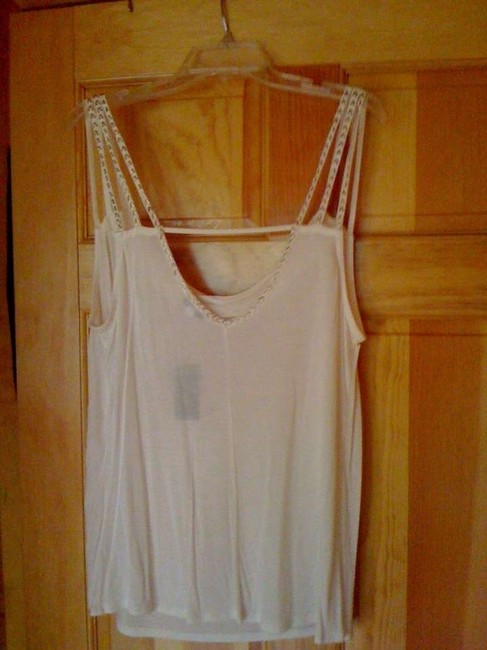 Express Strappy Beaded Top Ivory