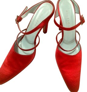 Tommy Hilfiger Vintage Satin Patent Leather Red Pumps