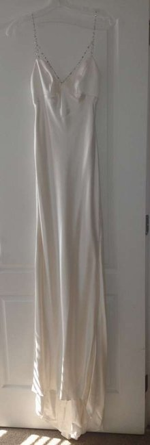 Item - Silk White Delphine Feminine Wedding Dress Size 2 (XS)