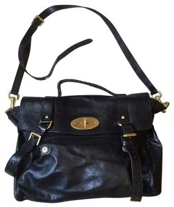 Mulberry Alexa Leather Classic Cross Body Top Handle Satchel in black 3b6d334fd4ce6