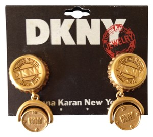 DKNY DKNY Vintage bottle top earrings