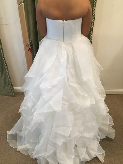 Pronovias Off White Lastel Modern Dress Size 14 (L)