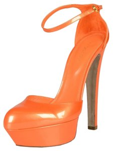 Sergio Rossi Orange Platforms