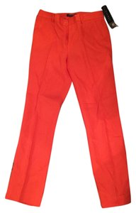 Lauren Ralph Lauren Linen Straight Pants Orange
