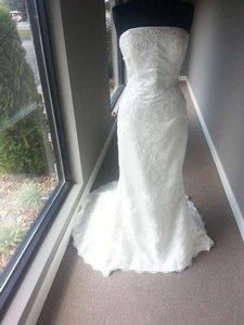 Pronovias Ivory Odeta Modern Wedding Dress Size 12 (L)