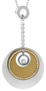 Chopard Chopard Happy Diamond Necklace in 18k White & Rose Gold