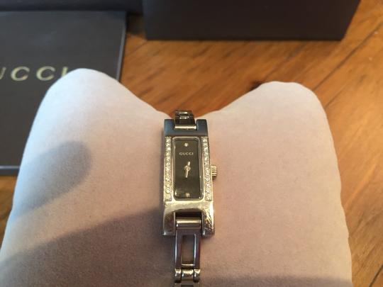 Gucci Gucci Ladies Diamond Stainless Steel black face 39001