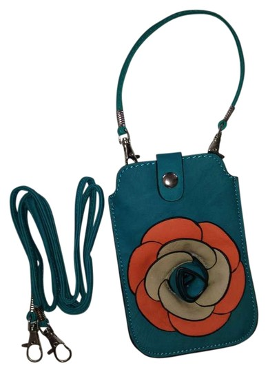 Other Cell Phone Case Tote Blue Blue Flower Italian Girly Great Priced Satchel in Turquoise
