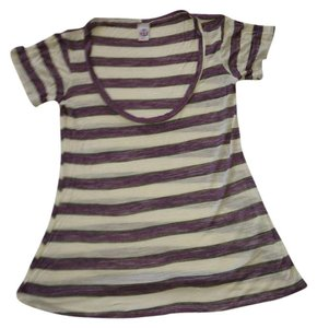 Lucy Love T Shirt Purple and White